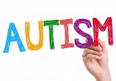 stock photo of medical condition  - Autism written on the wipe board - JPG