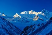 image of mountain-range  - Snow capped mountains - JPG