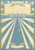stock photo of circus tent  - vintage circus blue show - JPG