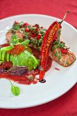 image of cayenne pepper  - baked salmon with herbs and cayenne pepper - JPG