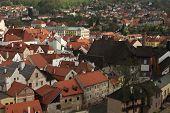 image of bohemia  - Tiled roofs in Cesky Krumlov - JPG
