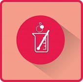 picture of beaker  - flat beaker icon - JPG