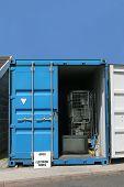 Contenedor de reciclaje de productos eléctricos