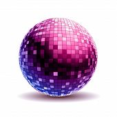Постер, плакат: Disco Ball Disco Background