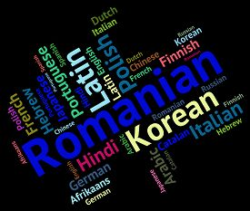 stock photo of dialect  - Romanian Language Representing Lingo Dialect And Languages - JPG