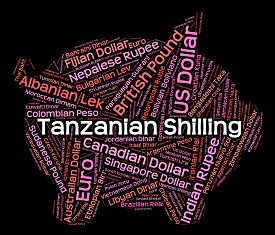 stock photo of shilling  - Tanzanian Shilling Representing Foreign Currency And Text - JPG