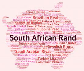 picture of zar  - South African Rand Indicates Currency Exchange And Coinage - JPG
