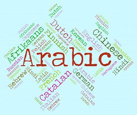 image of dialect  - Arabic Language Indicating Word Dialect And Words - JPG