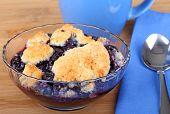 Bowl Of Blueberry Cobbler