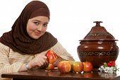 Descascar uma maçã