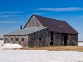 Old Abandoned Rusted Barn