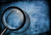 Magnify Glass Blue Grunge