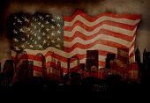 image of usa flag  - American City NYC - JPG