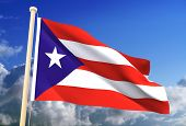 Puerto Rico Flag (Clipping Path)