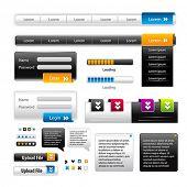 Vector Web 2.0 menu set for business site.