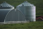 Steel Buildings In Farmyard