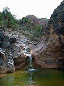 Lower Falls In No Thoroughfare Canyon