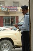 Iraqi police officer. Basra, Iraq.