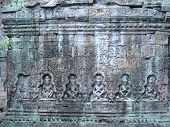 image of mahabharata  - Sculture of khmer art in old stone  - JPG