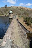 Vertical View Of The Penygarreg Reservoir, Elan Valley, Wales.