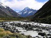 LANDSCAPE VIEW OF MOUNT COOK AND THE  poster