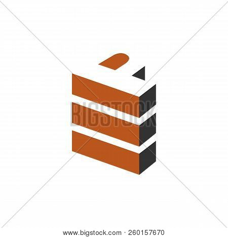 Letter P Logo Stacked P