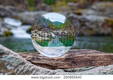 Crystal Glass Ball Sphere Reveals