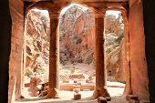 View from The Garden Hall, dated from 200BC-200AD, Petra, Jordan