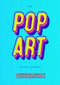 Vector Pop Art Alphabet Modern Typography Sans Serif Style For Book, Promotion, Poster, Decoration,  poster