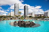 Maritimo Cesar Manrique park in Santa Cruz. Tenerife, Canary Islands, Spain