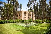 Central pavilion in Bagh-e-Fin (Fin Gardens -built early 16th century onward), Kashan, Iran.