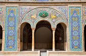 Beautyful mosaic arc of Golestan  palace, Tehran, Iran