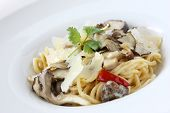 Mushroom Pasta with Cream Sauce
