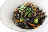 Simmered Hijiki Seaweed , Japanese Food , Small Dish for Alcohol