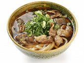 udon noodles with beef tendon stew , Japanese food