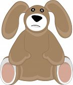 Sad Puppy Dog Stuffed Animal poster