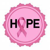 Breast Cancer Hope Logo. Realistic Illustration Of Breast Cancer Hope Logo For Web Design Isolated O poster