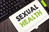 Text Sign Showing Sexual Health. Conceptual Photo Healthier Body Satisfying Sexual Life Positive Rel poster