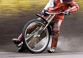 Motorcycle speedway rider