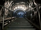 foto of salt mines  - Stairs in Turda salt mine - JPG