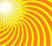 Summer sun. Vector illustration
