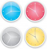 Four clock. Vector design elements