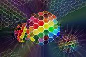 Esfera de color abstracto brillado