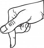 Contour of hand