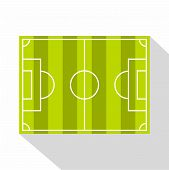 Soccer Field Or Football Grass Field Icon. Flat Illustration Of Soccer Field Or Football Grass Field poster