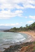 stock photo of nudist beach  - Vertical view of Makena