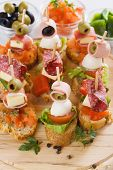 image of buffet catering  - Bruschetta - JPG