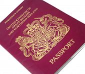 british passport isolated on white