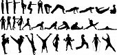 32 Excercise Silhouettes.Eps
