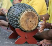 playing bongos on the street